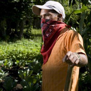 Zapatista farmer