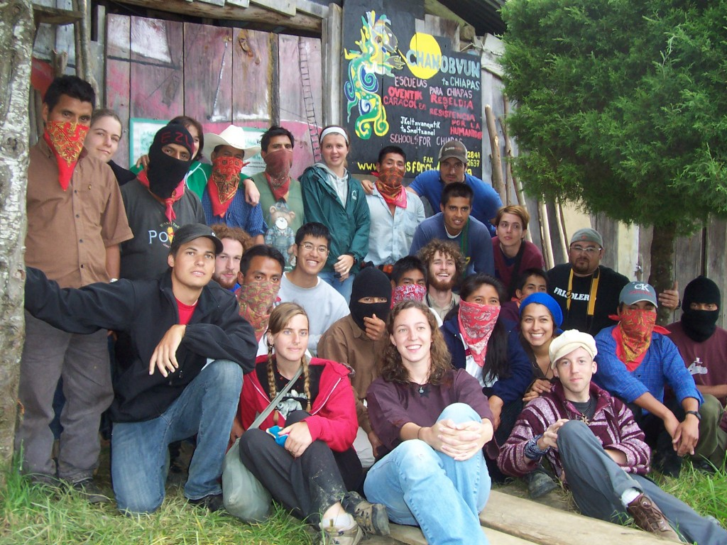 Zapatista promotors and visitors
