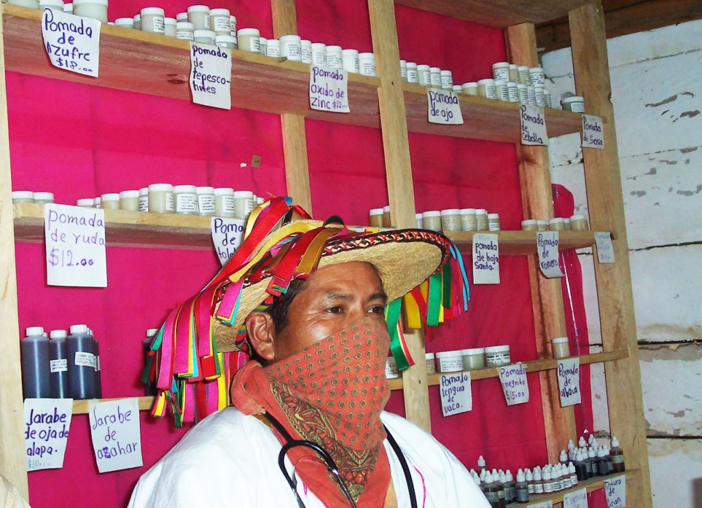 Zapatista health promoter