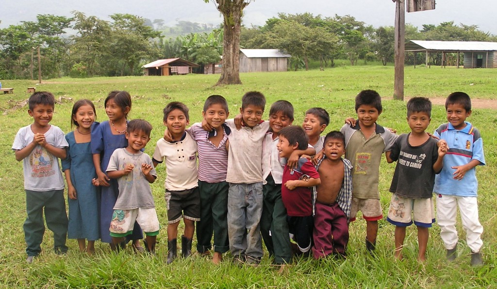 Zapatista kids laughing