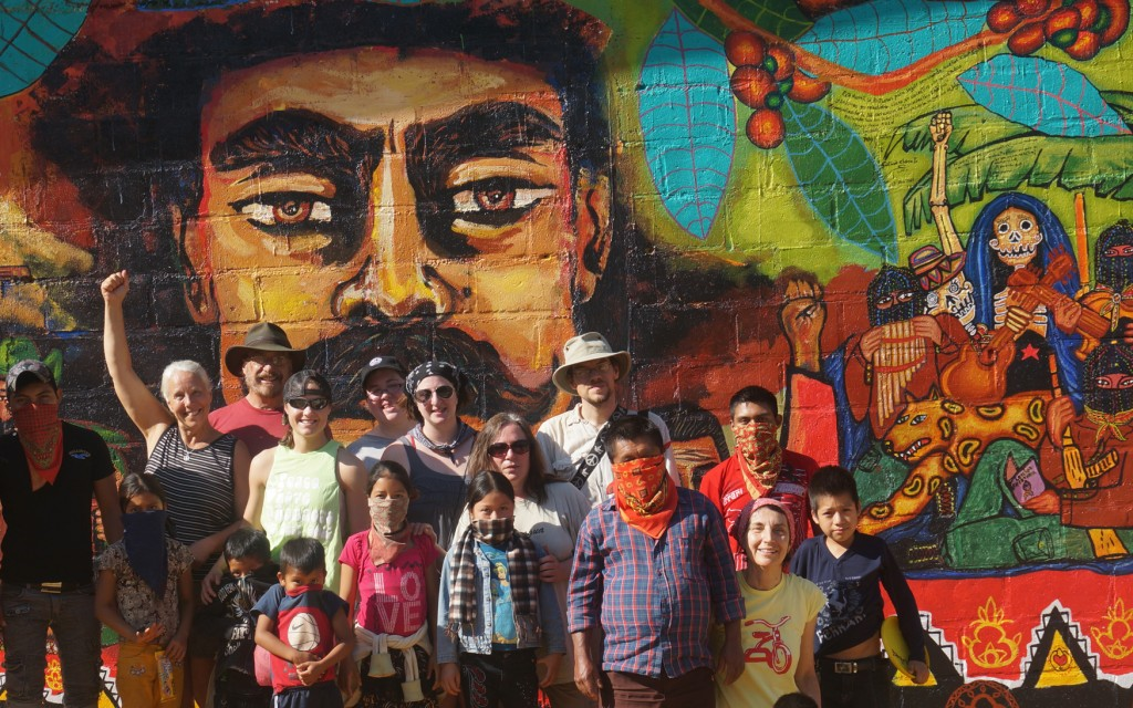 New Zapatista coffee mural