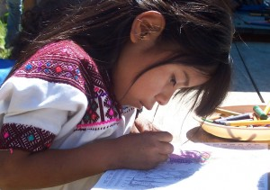 Zapatista girl coloring