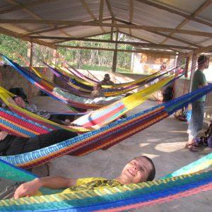U.S. university students sleeping in Zapatista educational center in Chiapas, Mexico.