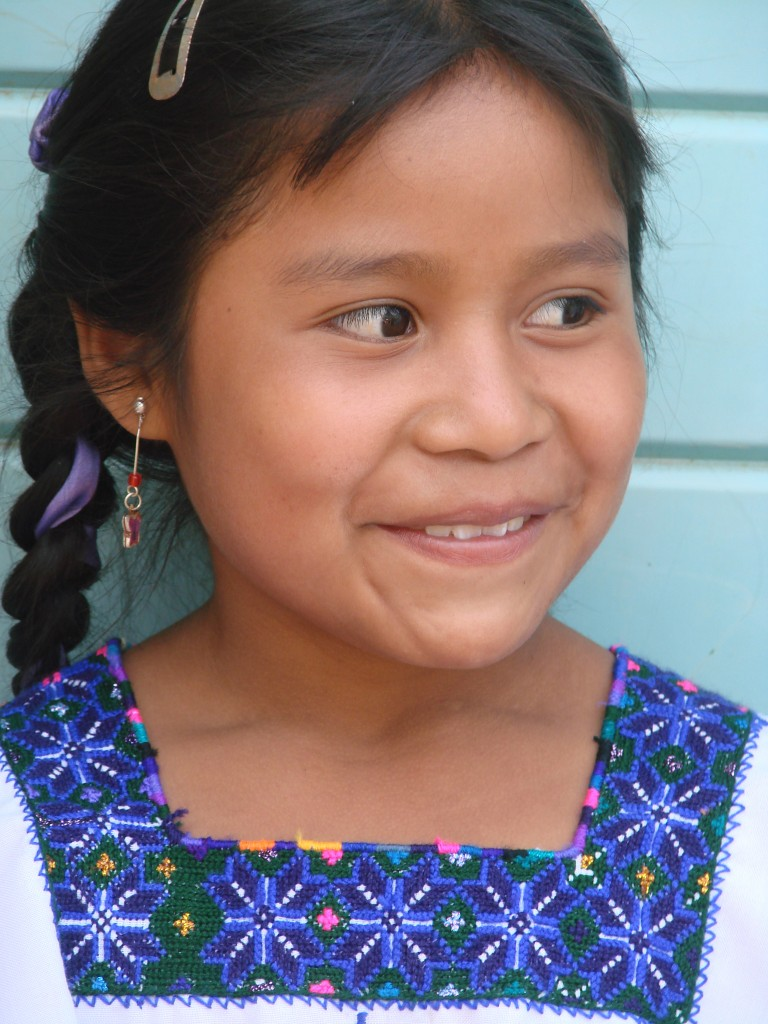 Zapatista girl in blue shirt