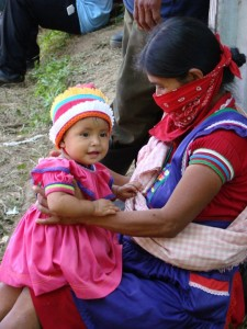 Zapatista woman and child