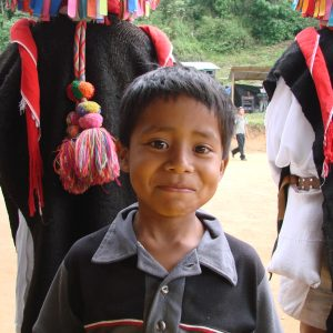 This young Tzotzil boy wants to grow up to be a teacher in an autonomous Zapatista school just like his dad.