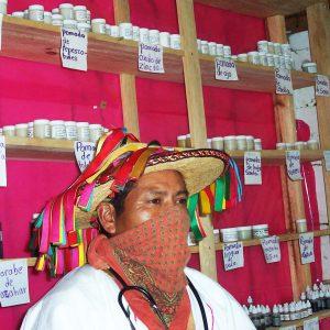 Zapatista health promoter and herbalist in Aldama, Chiapas.