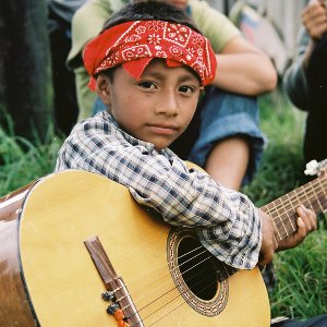Zapatista playing guitar